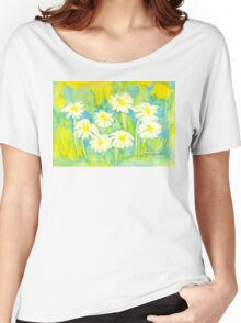 Marguerites Women's Relaxed Fit T-Shirt