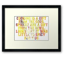 Sanji Quotes One Piece Framed Print