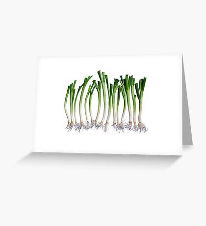Go Veggie #1 : Green Onion Greeting Card