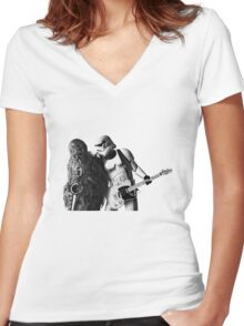 Born To Run Style Women's Fitted V-Neck T-Shirt