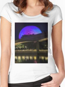 Epcot At Night Women's Fitted Scoop T-Shirt