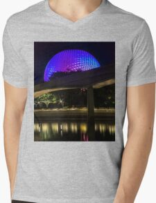 Epcot At Night Mens V-Neck T-Shirt