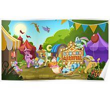 Animal Jam Summer Carnival Poster Poster