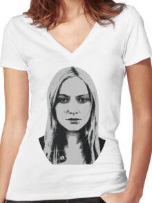 Etta Bishop - Resist Women's Fitted V-Neck T-Shirt