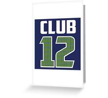 Club 12 Greeting Card