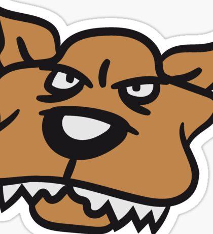 face head evil pitbull dangerous attack dog big monster dog Sticker