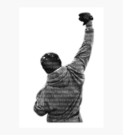 How Hard You Get Hit - Rocky Balboa Photographic Print