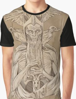 grayscale image of dead king with birds2 Graphic T-Shirt