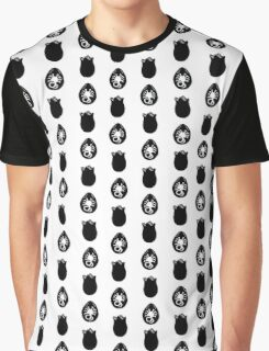 Alien Eggs- White and Black Graphic T-Shirt
