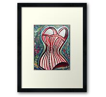 Corset Top Framed Print