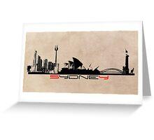 Sydney skyline city Greeting Card