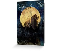Singing Up the Moon Greeting Card