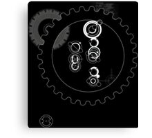 The Doctor with Cogs Canvas Print