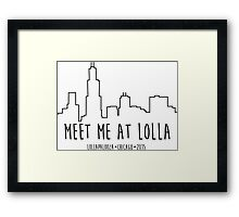 Lollapalooza Chicago Skyline 2015 Framed Print