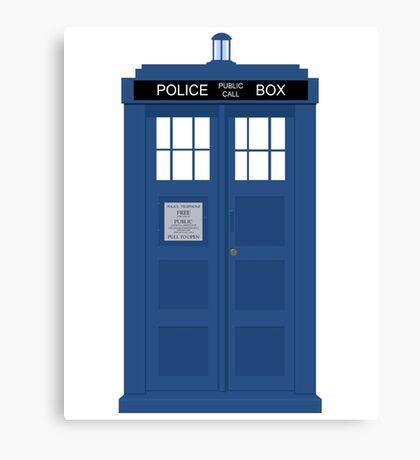 Doctor Who Tardis Canvas Print