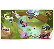 Animal Jam Raccoons Poster Poster