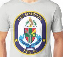 USS Simpson (FFG-56) Navy Patch Unisex T-Shirt
