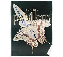 Emile Allain Séguy or Seguy Papillons Butterflies 1925 001 Inverted Poster