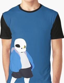 Undertale Minimalist Sans Blue Graphic T-Shirt