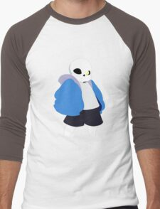 Undertale Minimalist Sans Blue Men's Baseball ¾ T-Shirt