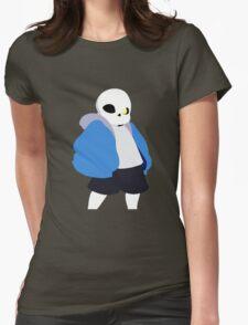 Undertale Minimalist Sans Blue Womens Fitted T-Shirt