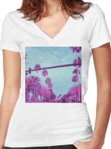 Universal Boulevard Women's Fitted V-Neck T-Shirt