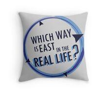 Going East Throw Pillow