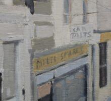 Street Scene (painting) Sticker