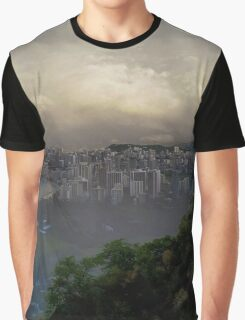 Looking Down to Honolulu Graphic T-Shirt