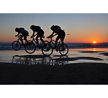 Cycling in Line Photographic Print