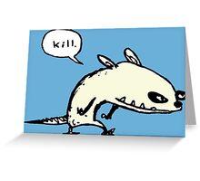 ApeRat- Kill Greeting Card