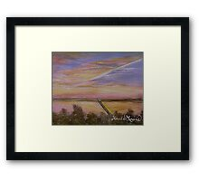 Sunset over Lake Ray Hubbard Framed Print