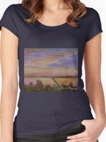 Sunset over Lake Ray Hubbard Women's Fitted Scoop T-Shirt
