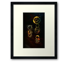 The Doctor in space Framed Print