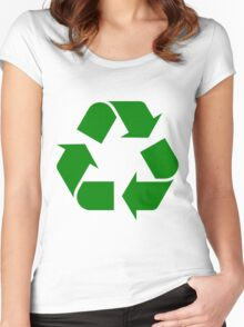 RECYCLE-2 Women's Fitted Scoop T-Shirt