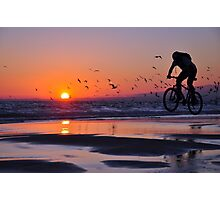 Cycling to Fly Photographic Print