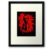 H. P. Lovecraft Tribute (red) Framed Print