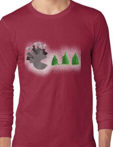 Pac Man Trees Long Sleeve T-Shirt
