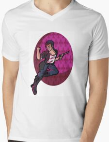 Wolf Among Us- Bloody Mary Mens V-Neck T-Shirt
