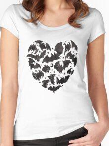 Bat Heart Women's Fitted Scoop T-Shirt