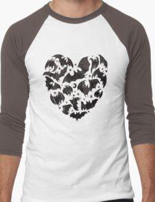 Bat Heart Men's Baseball ¾ T-Shirt