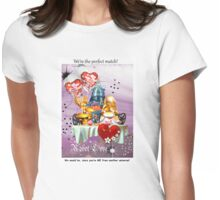 Robots in Love Womens Fitted T-Shirt