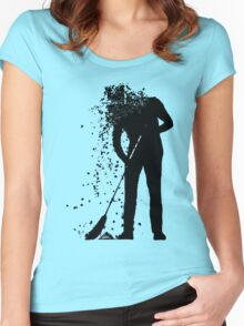 broom man Women's Fitted Scoop T-Shirt