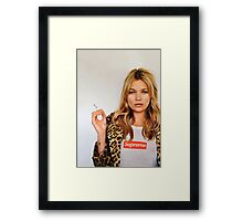 Kate for Supreme Media Cases, Pillows, and More. Framed Print