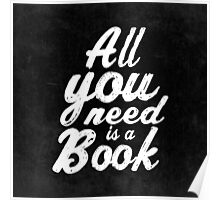 All you need is a book  Poster