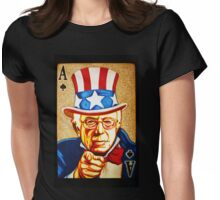 BERNIE SANDERS POCKET ACE POTUS T-SHIRT Womens Fitted T-Shirt