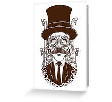 Steampunk man Greeting Card
