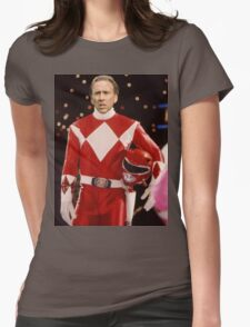 Nick Cage Red Ranger Womens Fitted T-Shirt