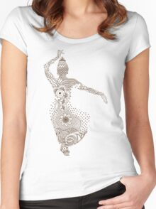 Indian Dancing Women's Fitted Scoop T-Shirt