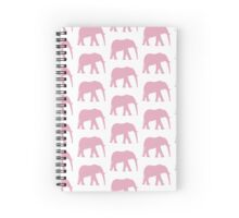 Pink Elephant (check) Spiral Notebook